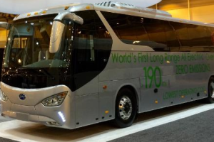 BYD Unveils World's First Battery Electric Coach Bus