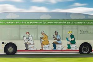 This Commuter Bus Runs On Poop