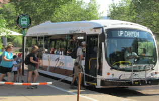 Zion National Park Rolls with First Electric Bus